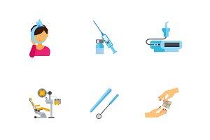 Dentistry icon set