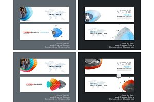 Abstract vector set of modern