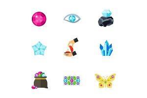 Gems icon set