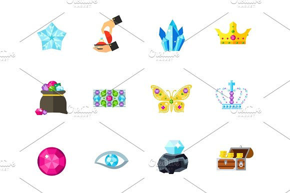 Gemstones Icon Set