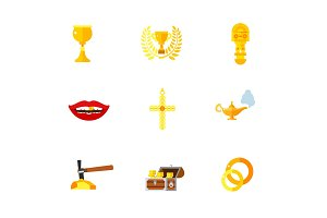 Gold icon set