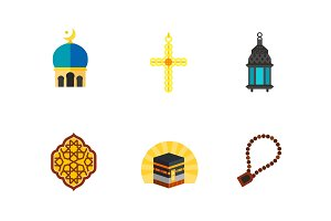 Islam icon set