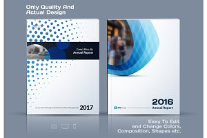 Abstract annual report, business vector template.