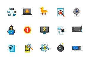 Network icon set