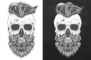 Trendy Mexican skull design
