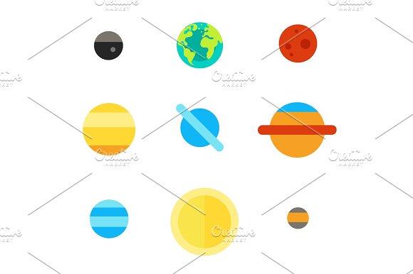 Solar System Icon Set