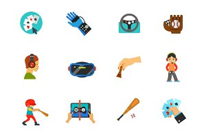 Sport and cybersport icon set