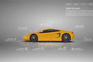 Set of Car infographics design