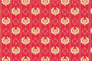 Damask red background