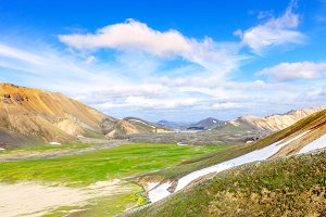 Scenic Mountain landscape in Iceland