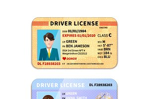 DIfferent car driver licenses