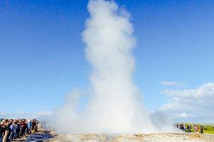 Strokkur geyser. Iceland.