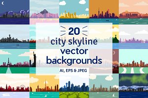 City Skyline Vector Backgrounds
