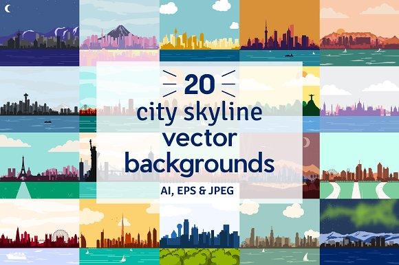 City Skyline Vector Backgrounds