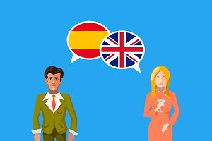 Britain and Spain speech bubbles