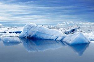 Big icebergs. Jokulsarlon. Iceland