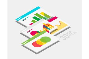 Isometric 3d user interface design