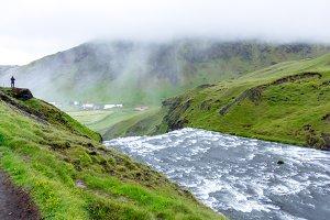Skogafoss waterfall, Iceland, Europe