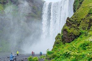 Skogafoss waterfall. Iceland