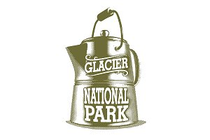 Glacier National Park Coffee Pot