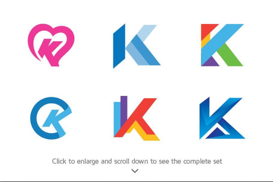 6 Best Of Letter K Logos Logo Templates Creative Market