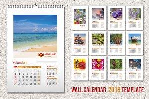 Wall calendar template 2018 (A3)