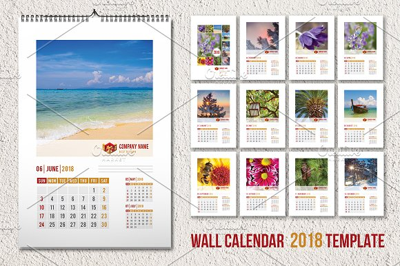 Wall calendar template 2018 a3 stationery templates creative wall calendar template 2018 a3 stationery pronofoot35fo Gallery