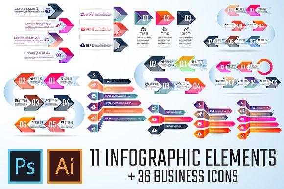 Arrow Infographics Template Vol.3