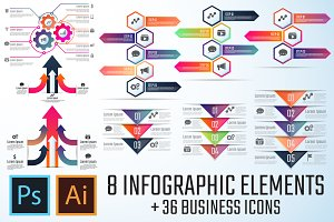 Arrow Infographics Template Vol.4