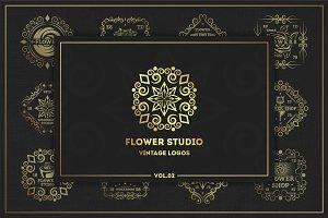 Flower studio. Logo Kit. Vol.02.