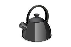 An isolated black tea kettler