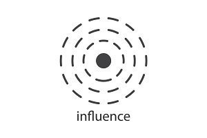 Influence glyph icon