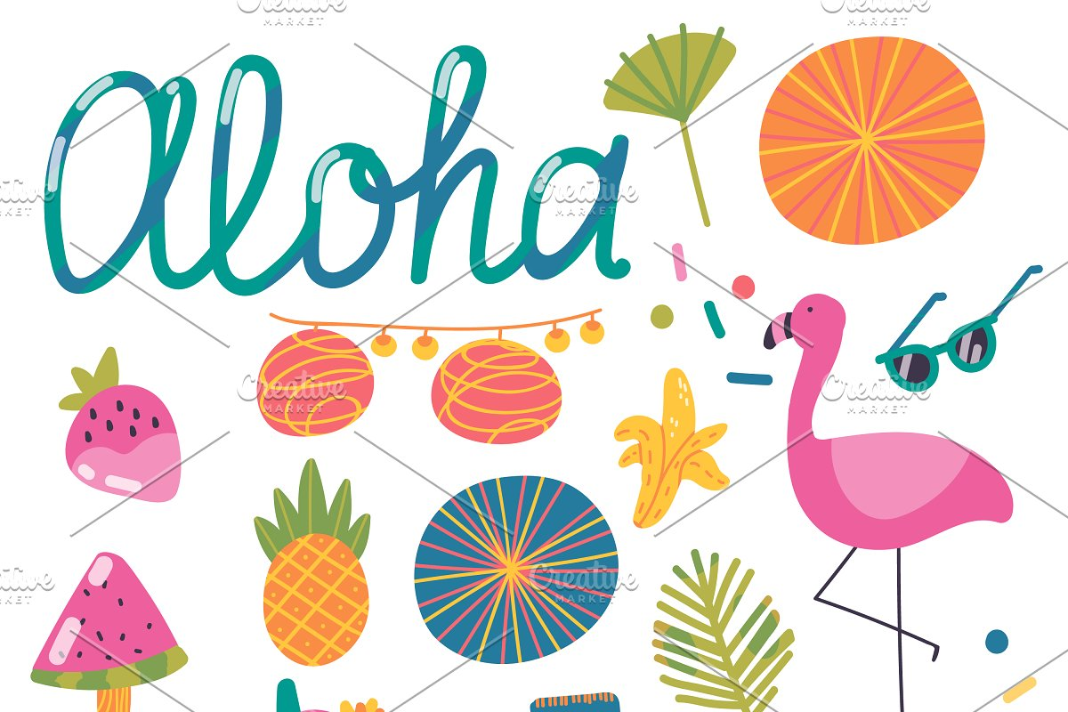 Aloha, Summer! ~ Graphic Patterns ~ Creative Market