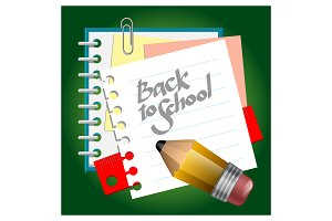 Back to School Abstract Design
