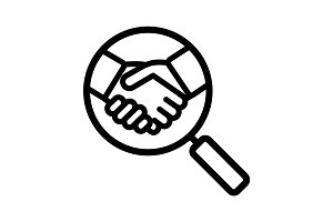 Business partner search linear icon