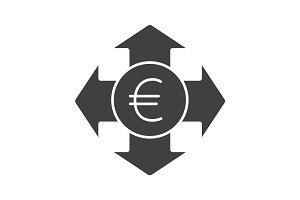 Money spending glyph icon