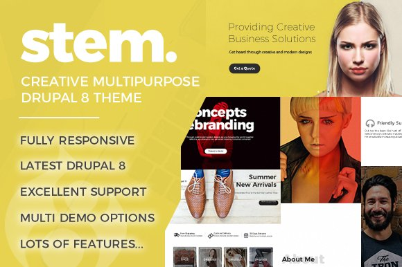 Stem Multipurpose Drupal 8 Theme