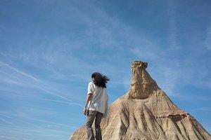 Man in desert