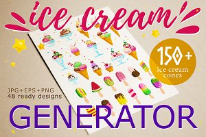 ice cream creator, EPS+PNG