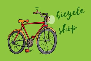 Bike vector illustrations