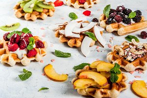 Wafers with different fruits