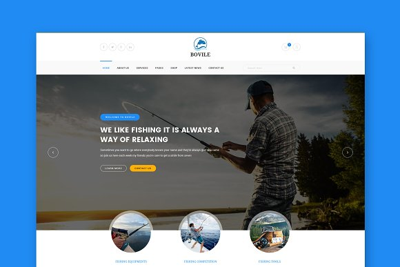 Bovile Fishing WordPress Theme