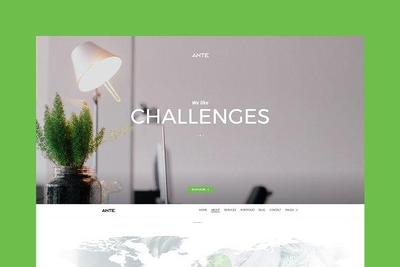 Ante One Page WordPress Theme