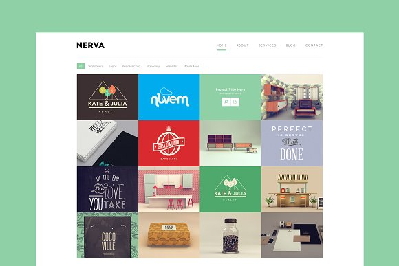 Nerva Minimal WordPress Portfolio
