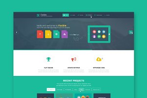 Flatible - One Page Wordpress Theme