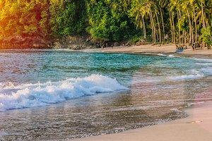 Sunset on Beautiful Crystal Bay, Nusa Penida Bali