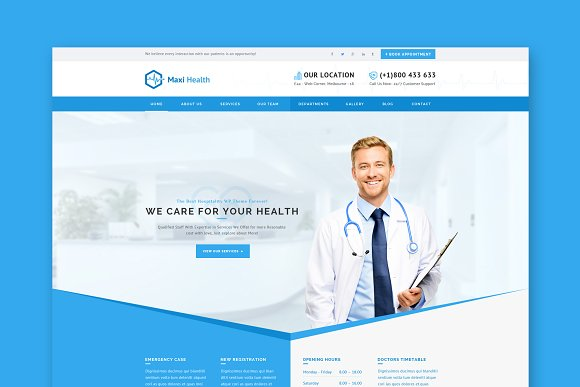Maxi Health Medical WordPres Theme