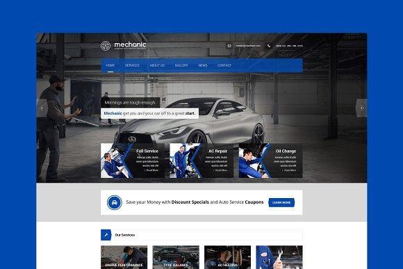 Mechanic Car Repair WordPres Theme