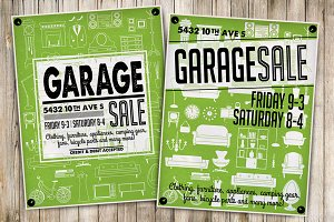 Garage Sale Flyer Poster(4)