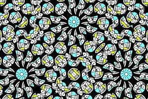 Modern Geometric Intricate Hand Draw Seamless Pattern Mosaic